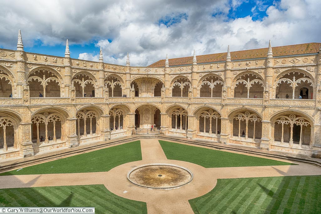 The courtyard of the Mosteiro dos Jerónimos, Lisbon, Portugal