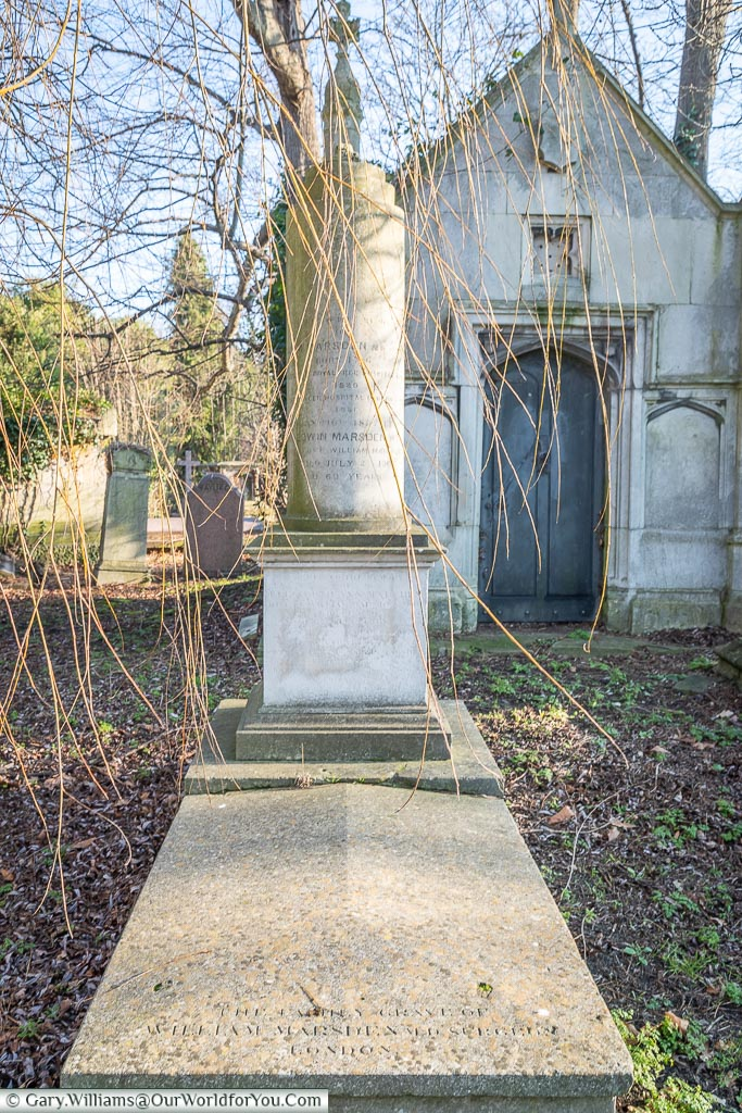 The grave of William Marsden, West Norwood Cemetery, London