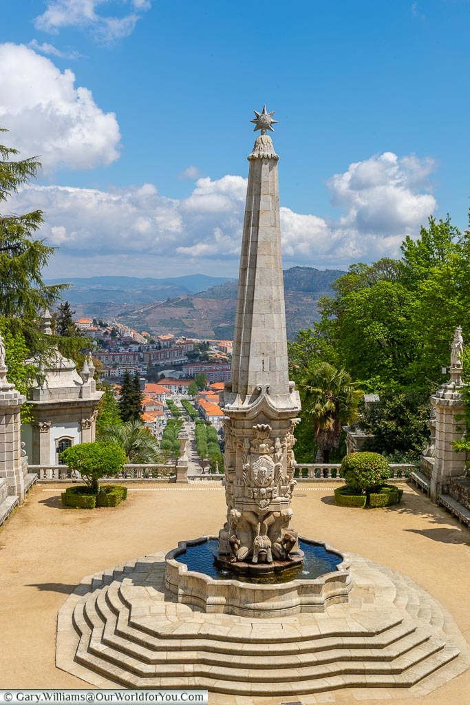 The view across Lamego, Portugal