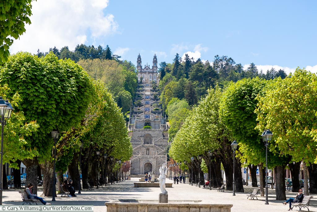 The view of  Our Lady of Remedies from Lamego, Portugal