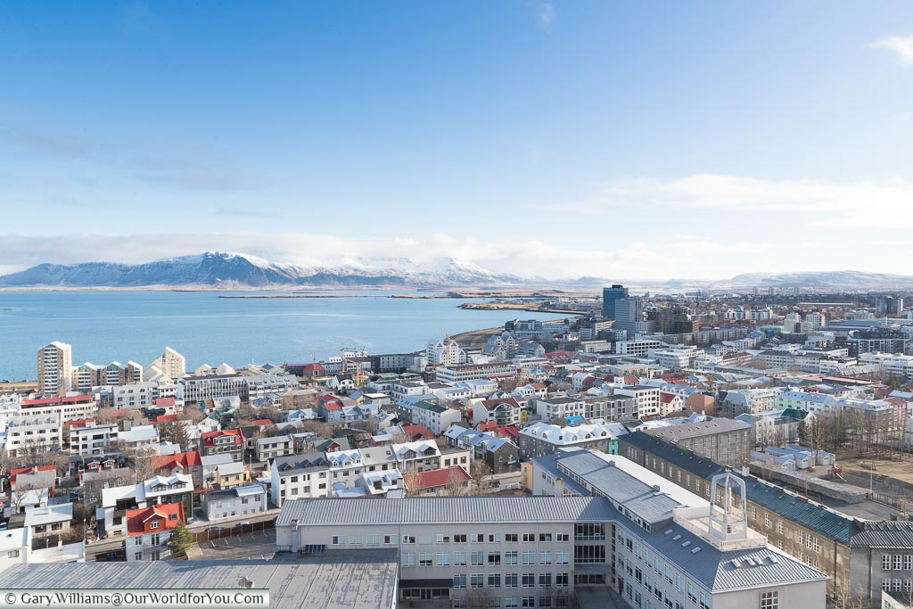 The view over Reykjavik, Iceland