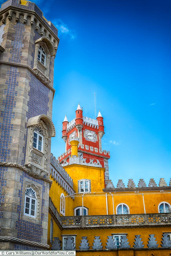 Vibrant colours, The Palace of Pena, Sintra, Portugal