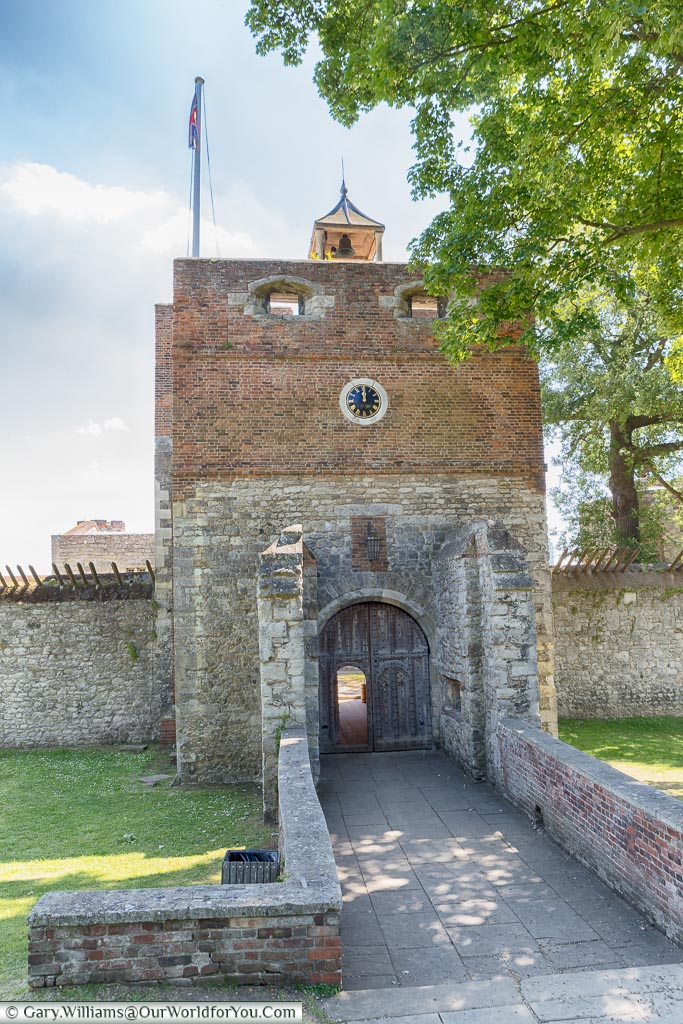 Entrance to Upnor Castle, Upnor, Kent, England, UK