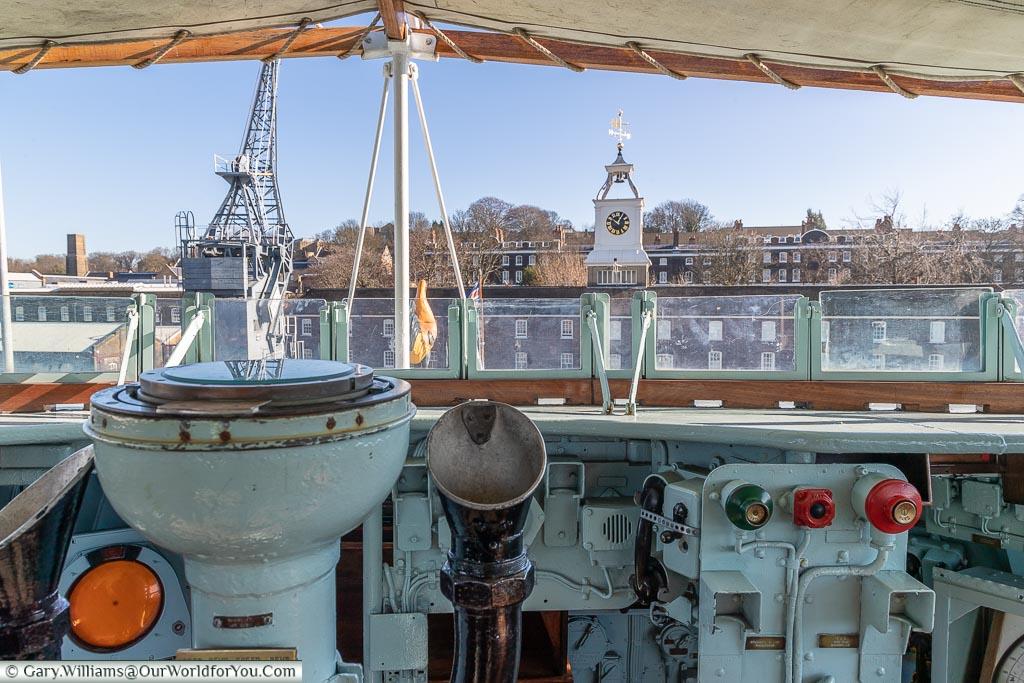 From the Bridge, Historic Chatham Dockyard, Kent, England, UK