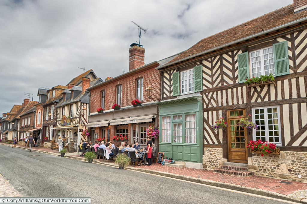 Half timbered homes, Beuvron-en-Auge, Normandy, France