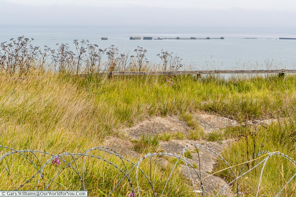 The Mulberry harbour - Arromanches , Normandy, France, Normandy, France