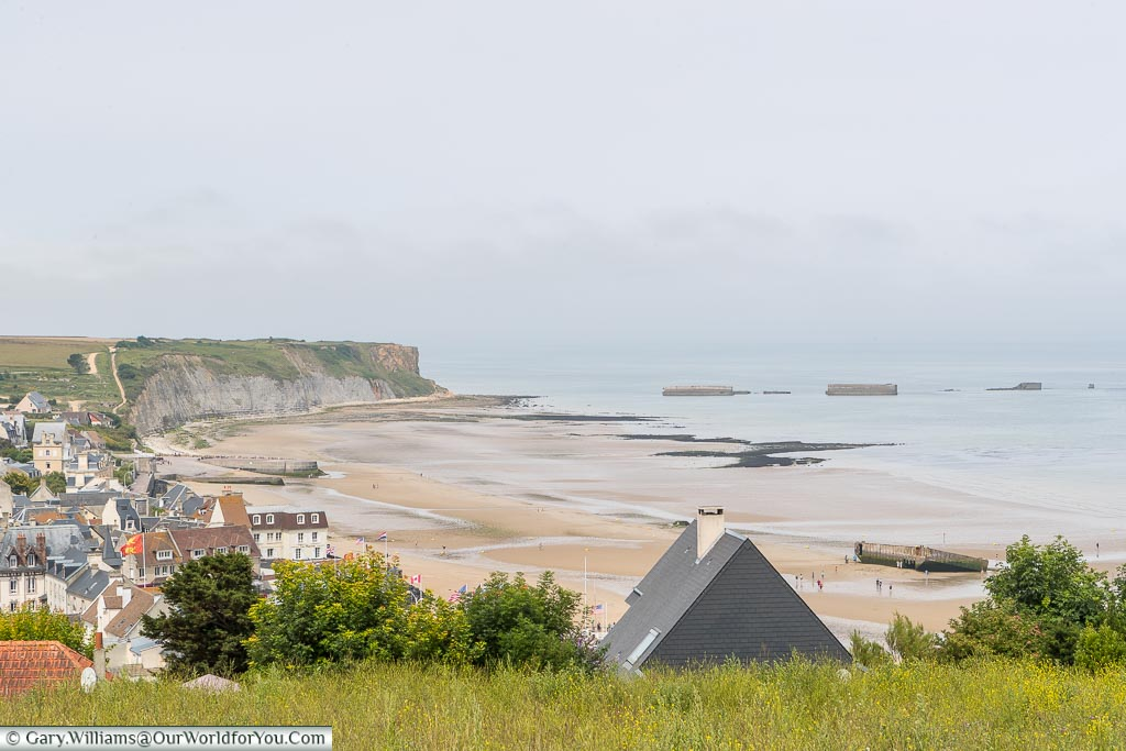 The bay at Arromanches, Normandy, France