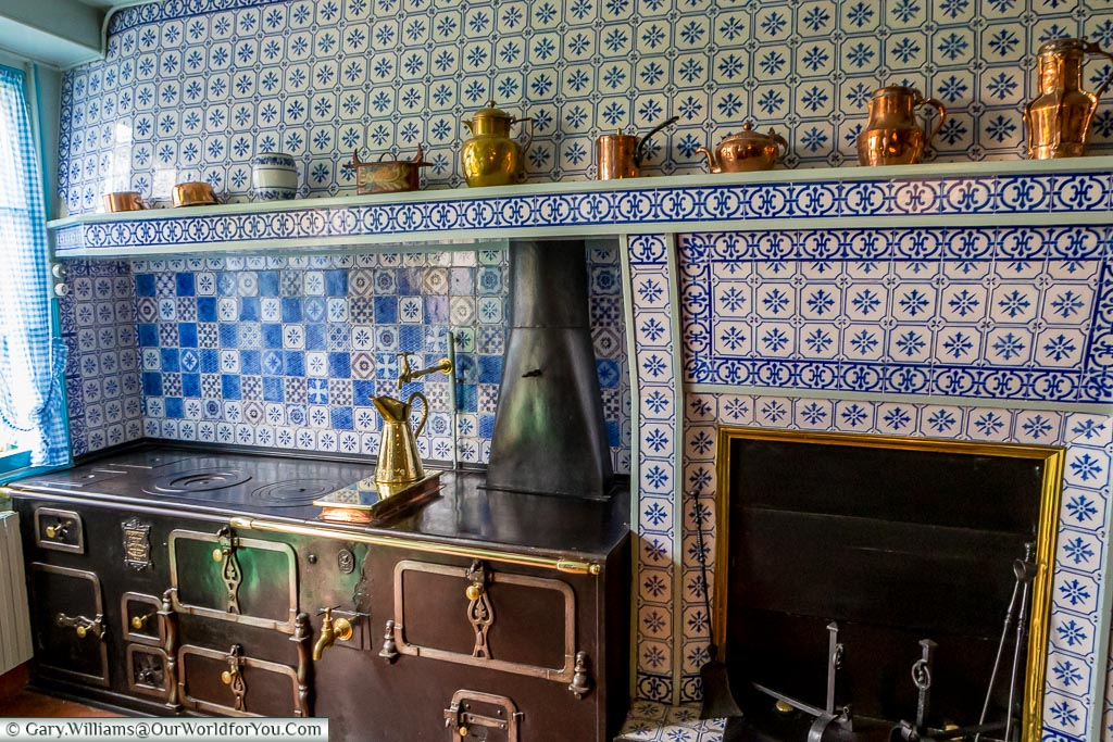 The kitchen stove, Giverny, Normandy, France