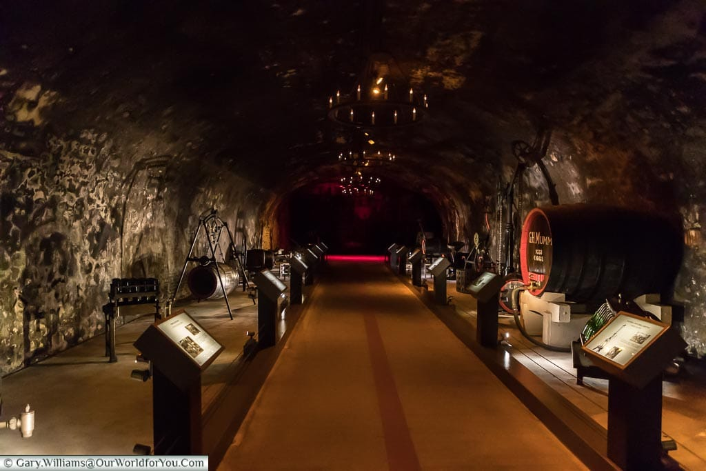 The museum at G H Mumm, Reims, Champagne Region, France