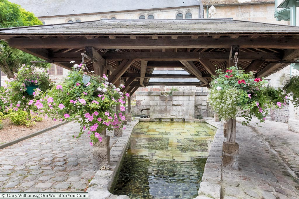 The public wash house, Honfleur, Normandy, France