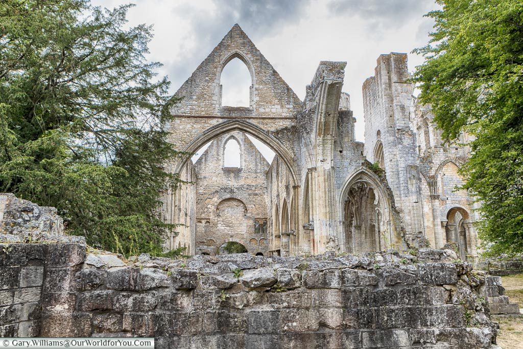 Time has taken its toll, Jumieges Abbey, Normandy, France