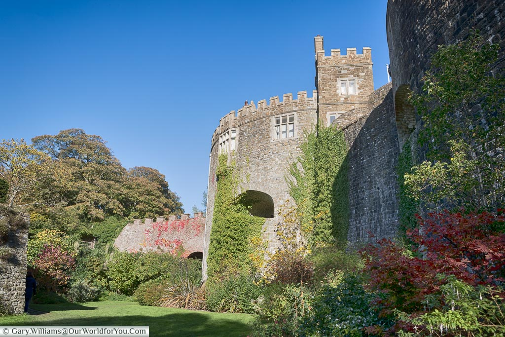Walmer Castle from the moat , Walmer, Kent, England, UK