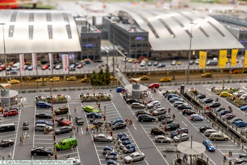 The airport car park, Miniatur Wunderland, Hamburg, Germany