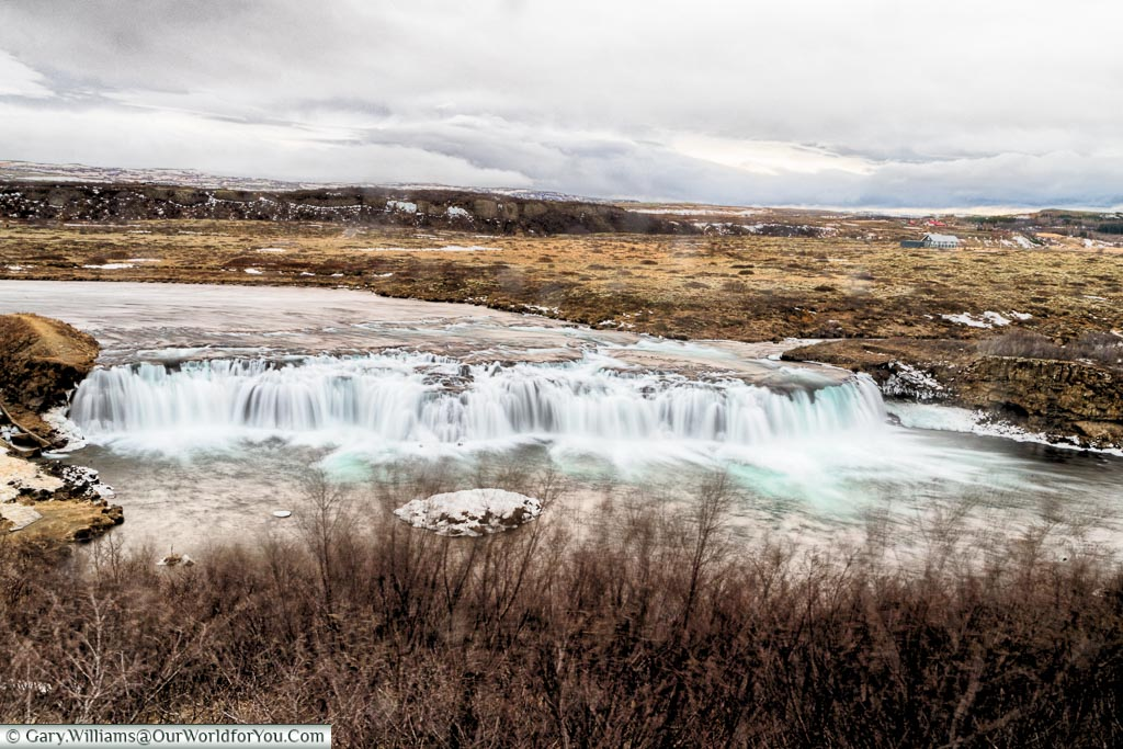 The faxi waterfall, Iceland