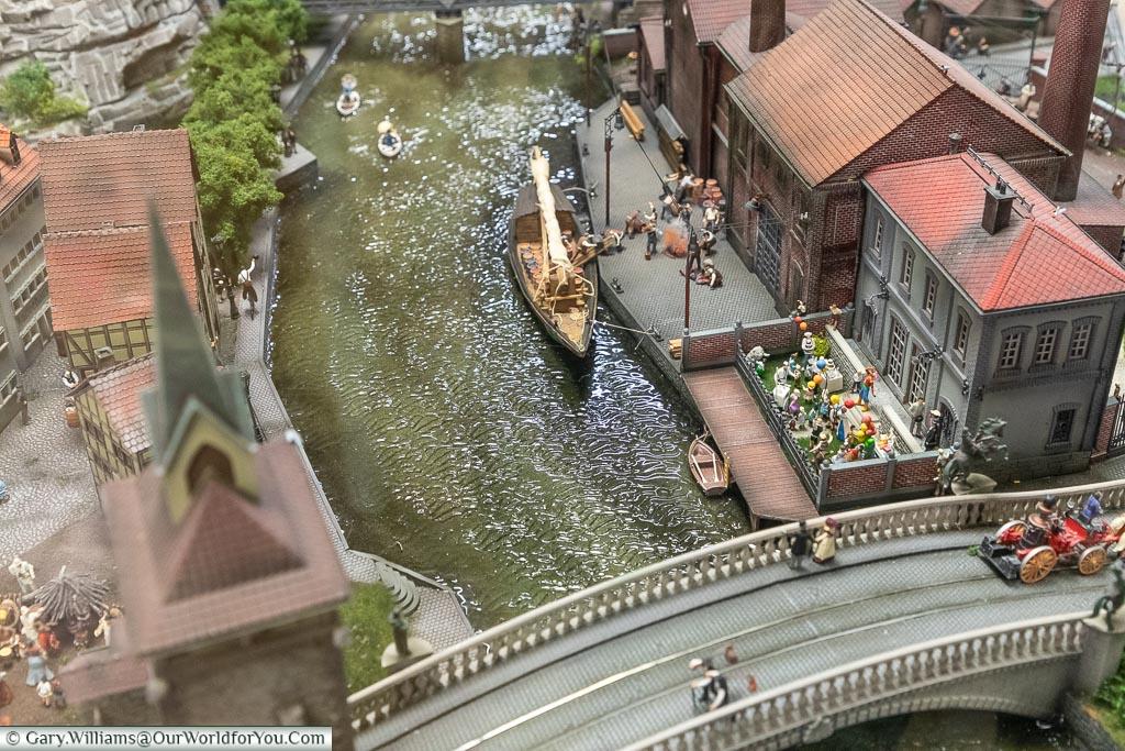 "The ""long"" 19th Century diorama, Miniatur Wunderland, Hamburg, Germany"