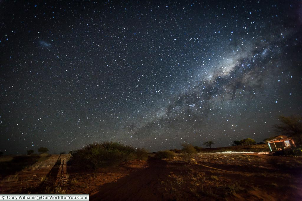 The night sky from our lodge, Bagatelle Kalahari Game Ranch, Namibia