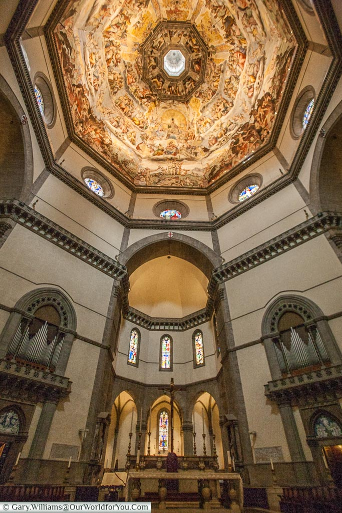 inside the Duomo of Florence, Florence, Tuscany, Italy