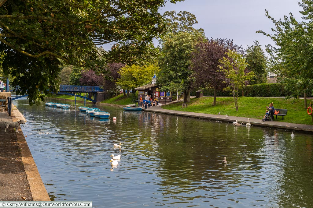 Boats on the canal, Hythe, Kent, England, UK