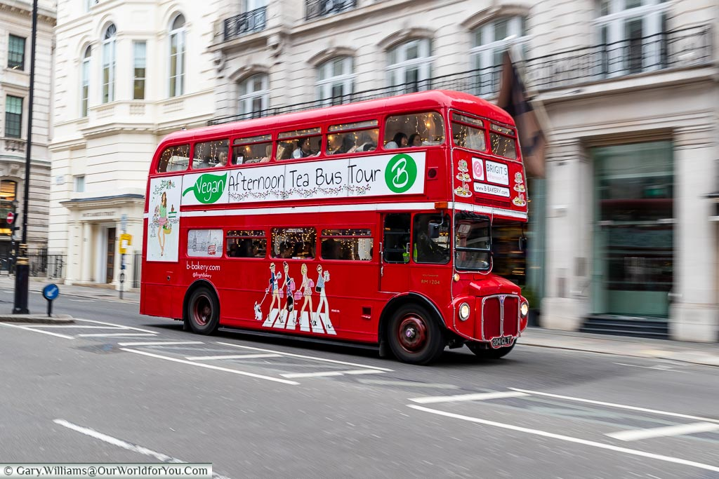 The Afternoon Tea Bus Tour, St James's, City of Westminster, London, England, UK