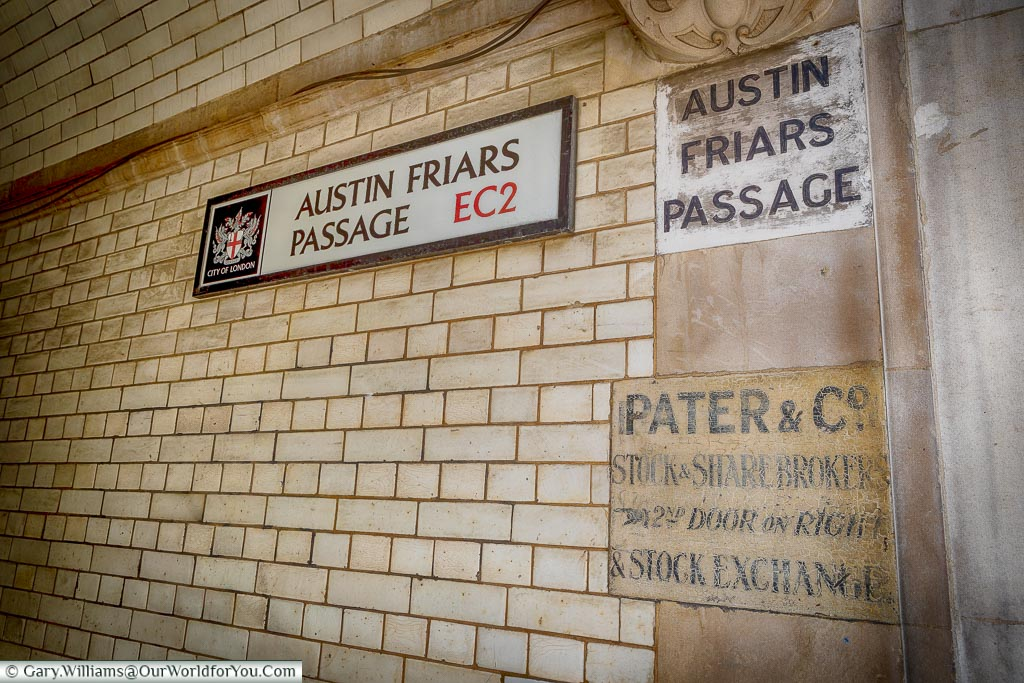 Austin Friars Passage, City of London, London, England, UK