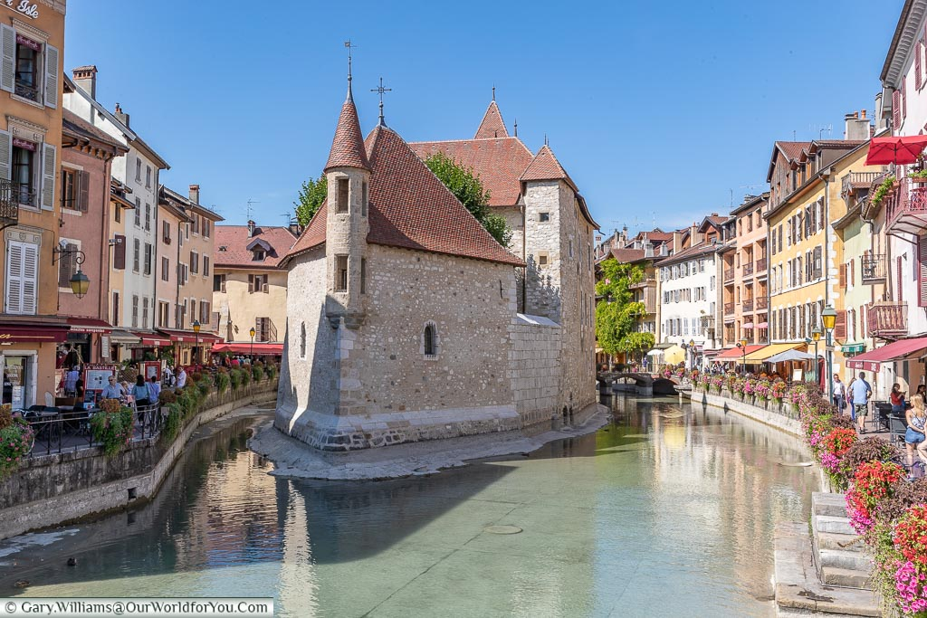 The Palais de l'Isle in Annecy, France