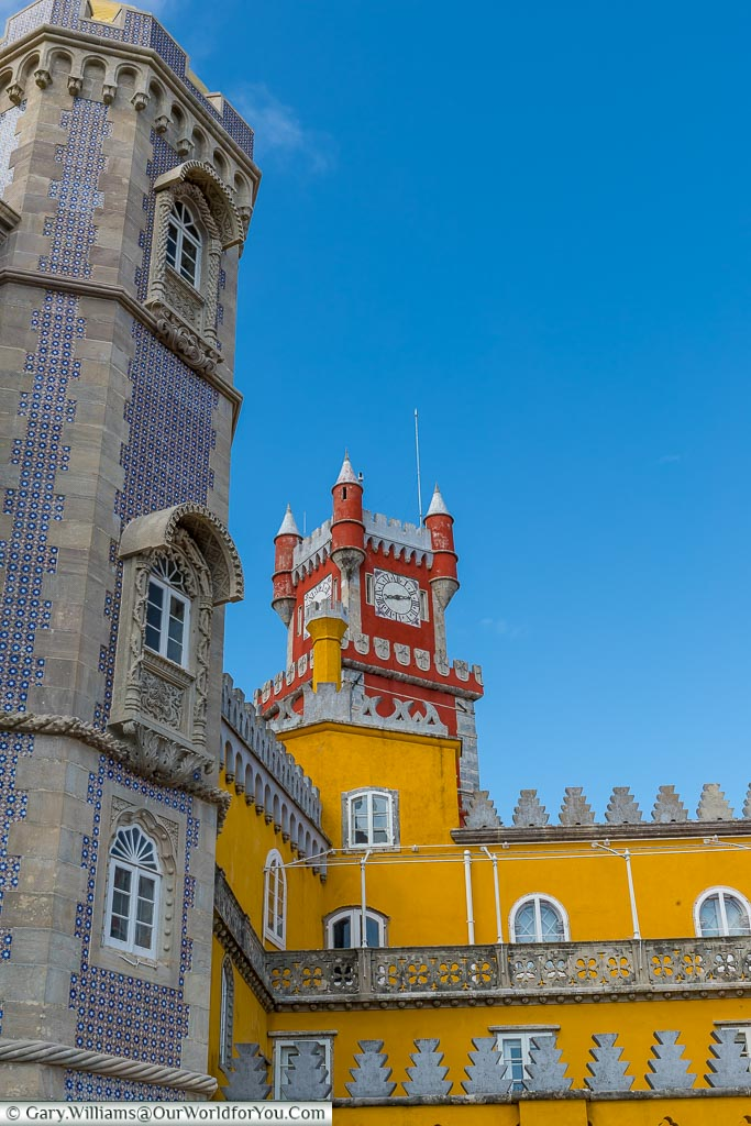 The colours of the Palace of Pena, UNESCO, Sintra, Portugal