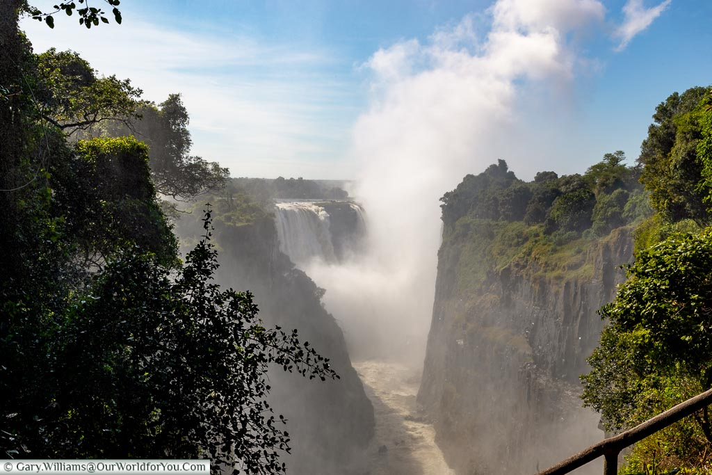 The view from the Devil's Cataract, Victoria Falls, Zimbabwe, Africa