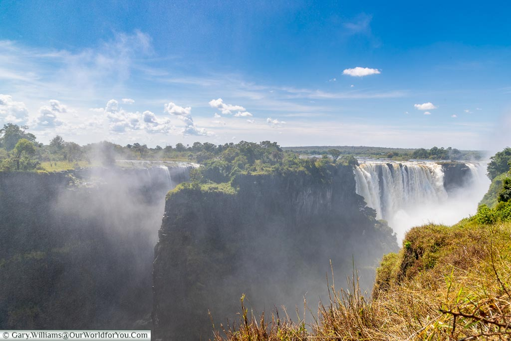 Victoria falls from the Zimbabwe side, Zimbabwe, Africa