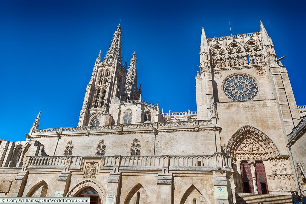 We are looking up at Catherdral in Burgos.