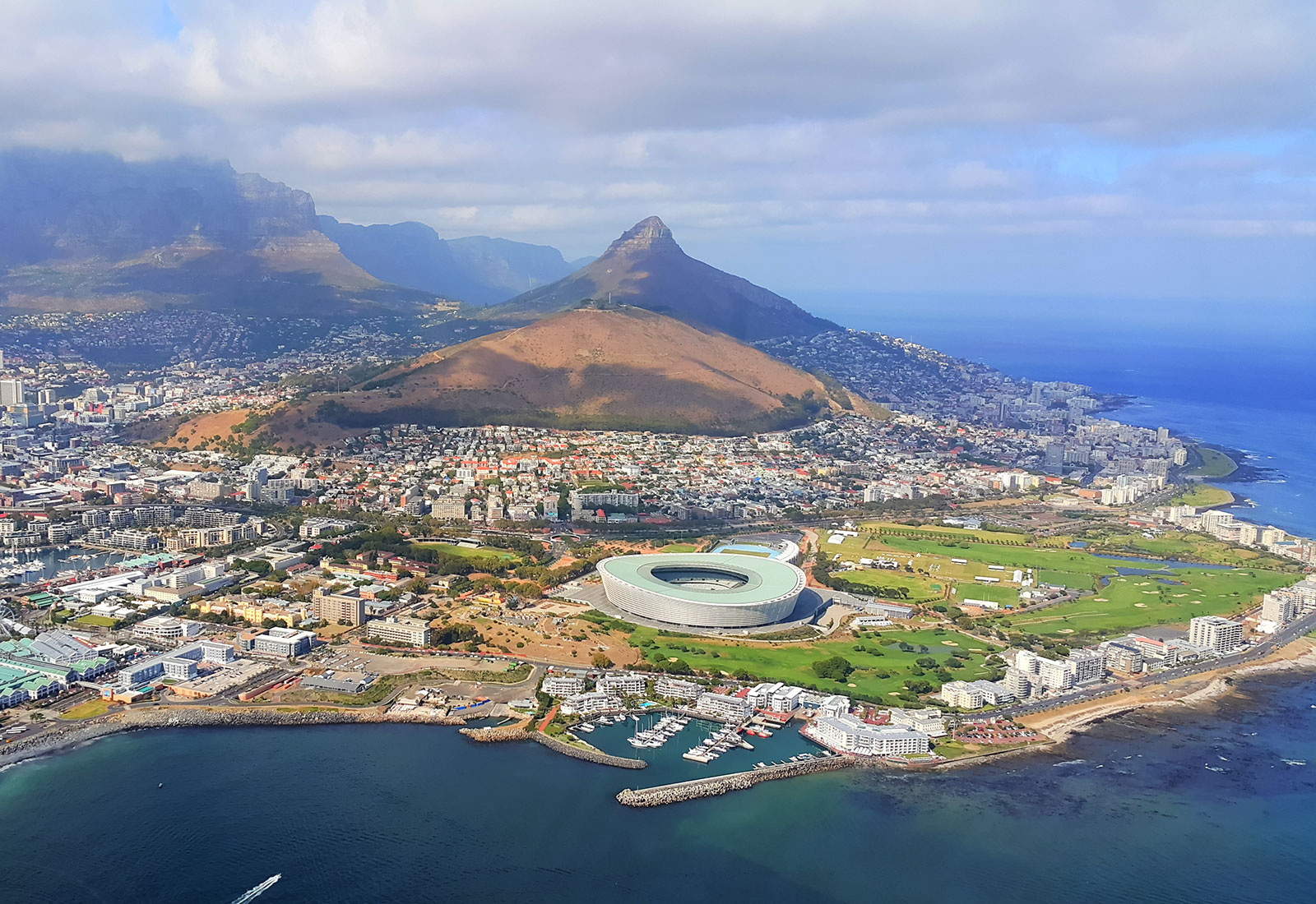 Helicopter Flight Over Cape Town