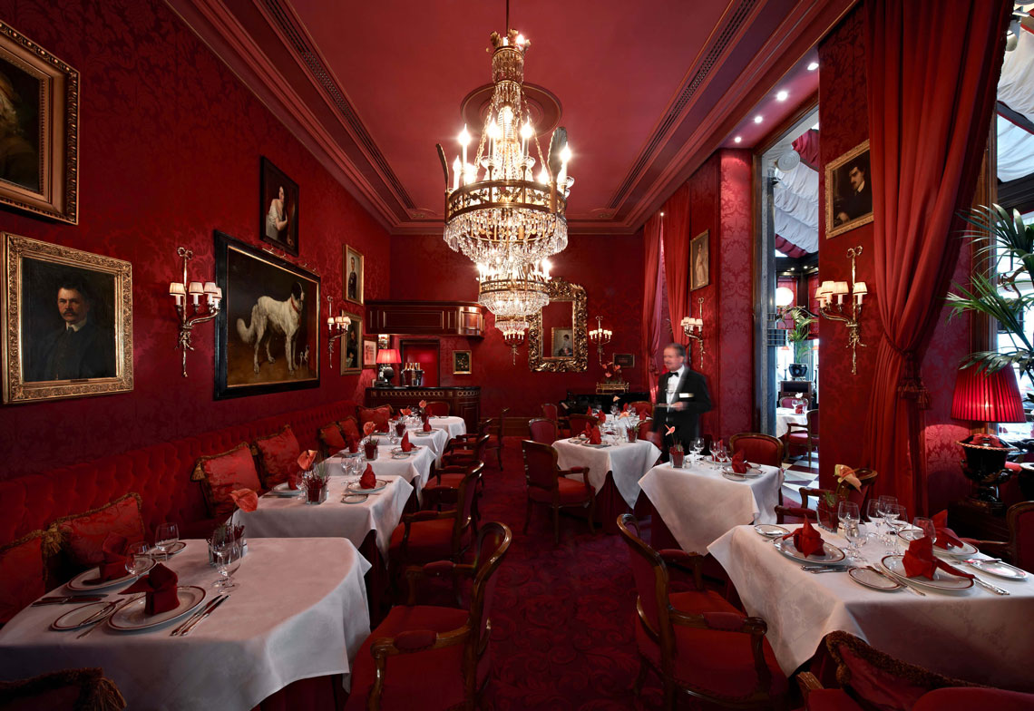 Famous Austrian Sacher Cafe in the Heart of Vienna