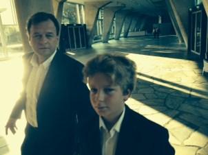 UNESCO HQ In Paris — with Marko Grobelnik and Adrian M. Grobelnik at UNESCO HQ In Paris.