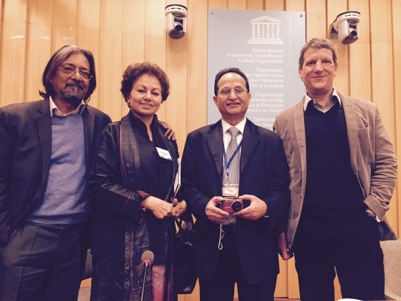 Indrajit Banerjee, Dr. Abdul Waheed Khan, Asha Singh Kanwar, Gasper Hrastelj @ UNESCO OER Experts meeting