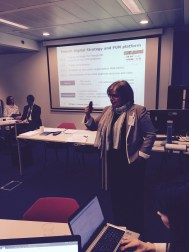 Catherine Mongenet presenting the Franench case study in Open Education