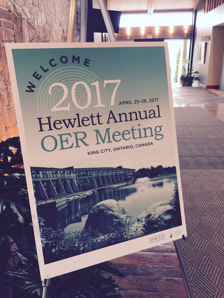 The William and Flora Hewlett Foundation's Annual OER Meeting 2017
