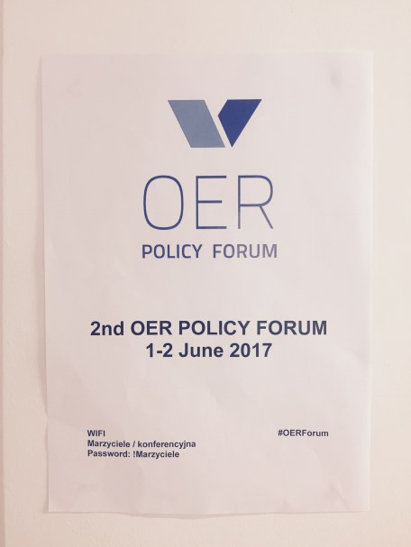 2nd OER POLICY FORUM, 1-2 June, Warsaw