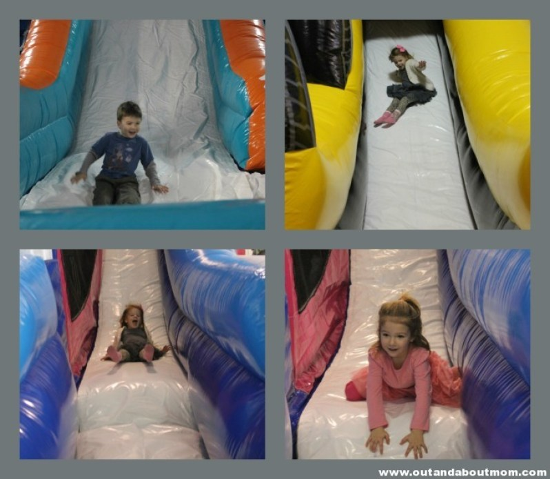 Bounce Town_Canton Conneciticut_Out and About Mom_Kids on Slides