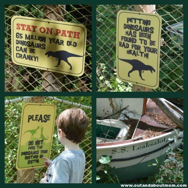 Edaville Dino Land Signs