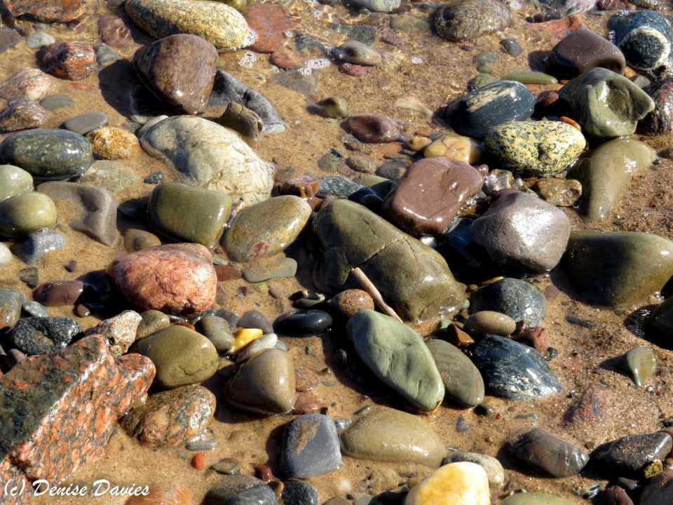 Colourful beach pebbles, Inverness Beach