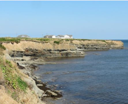 Cliff coastline at Glace Bay outlook from CB Miners Museum