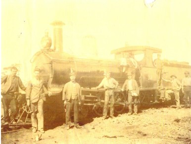 George Taylor's Locomotive, a G Class 107, George is 3rd from left.