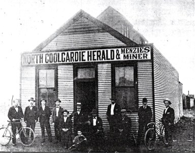 Offices of the North Coolgardie Herald and the Menzies Miner, Reid Street, Menzies