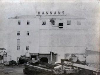 Hannans Brewery being Demolished