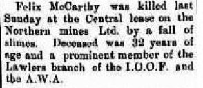 McCarthy Murchison Times and Day Dawn Gazette 1 February 1912, page 2