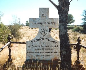 A lonely grave in the Malcolm Cemetery.