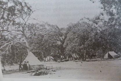 The camp where Sam Pearce and Willie Brookman were located on the Great Boulder claim in 1893