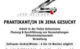 Lese-Zeichen e. V. Jena sucht Praktikant/in