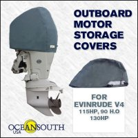 Oceansouth Custom Fit Storage Covers for Evinrude V4 115HP, 130HP, 90 H.O