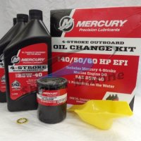 Mercury OEM Oil Change & Filter Kit 40-50-60hp Four Stroke Outboard 8M0081916