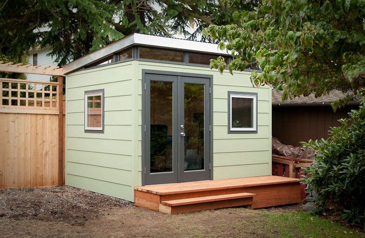 Modern shed a different standard of building westcoast for Prefab garden sheds